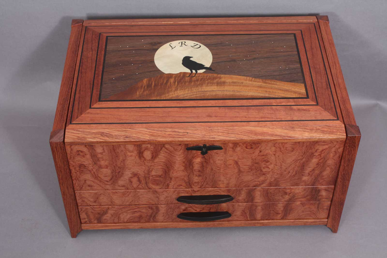 custom wooden boxes with inlays